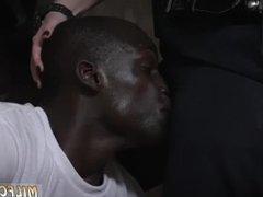 Blonde drinks cum hot black girl gets
