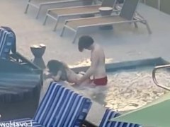 Amateur Couple Is Fucking In A Hot Tub Outside