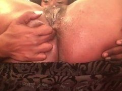 Thick Sexy Ebony Milf Anal Play With Fingers And Exercise Pole!!!
