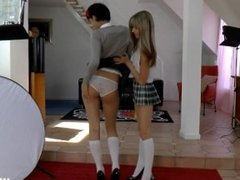 Jim Slip foursome with Gina Gerson, a teen and milf