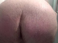 Big ass and mastodon balls in the shower. Huge Cumshot! Ass spanking
