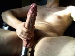 Huge veiny uncut cock