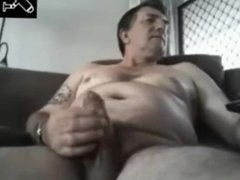 Chubby Older Daddy Fat Cock Cum
