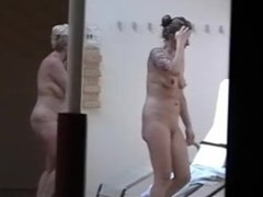 Naked girls caught in a sauna shower (17)