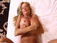 Big boobs amateur granny enjoys hard anal POV