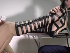 boots high heel worship and liking soles