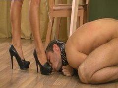 Russian mistress Helga feet slave 2