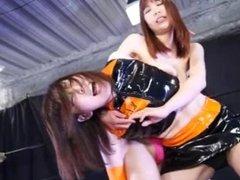 Japanese Lesbian vs Straight Girl Wrestling BLRP02