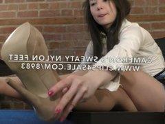 Cameron's Sweaty Nylon Feet - www.c4s.com/8983/18148324
