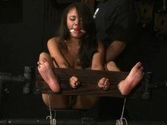 Bastinado feet tied toes