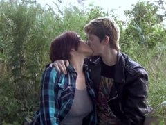 Real Lesbian Couple Making Out In The Park - Kissing Only