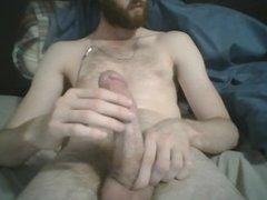 me jerking my big cock and cumming