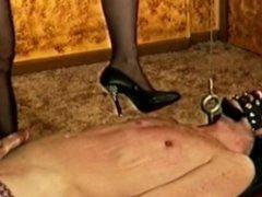 High heels trample cockcrush