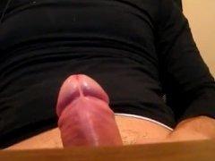 Huge stream of cum from big dick