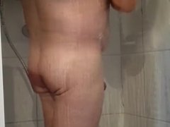 In the shower hot daddy