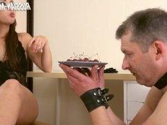 Mistress Salma humiliate slave