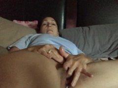 Wife fingering her pussy