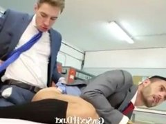 Hunks getting it on at work