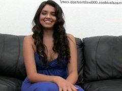 Beautiful cute round ass teen babe fucked during casting