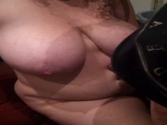 Big tit BBW belly fuck and cum