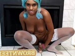 Squirting Black Teen Amateur Her Pussy Sideways Solo Pussy Fucking Squirt