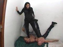 trample two men