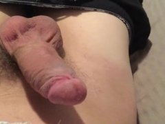 Getting ready for playtime.    Hard white Dick