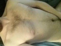 18 year old virgin cums all over himself