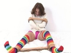 Straitjacket and Colorful Stockings