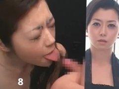 Sayuri Shiraishi split screen bukkake