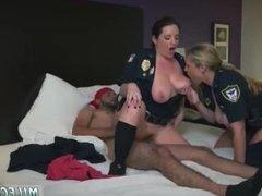 Big tit milf threesome in heels first time