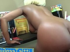 Ebony Teen Boss Fucking On 1st Day At Work To Keep Her Job Sex & Blowjob