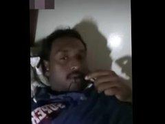 Indian man show black cock
