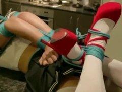 Mina RS schoolgirl bondage