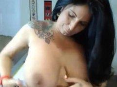 Mature brunette with big boobs dildo ride