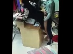 shop worker fuck worker caught on cctv camera
