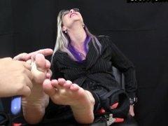 Ticklish corporate lady