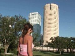 big boobed girl from kansas naked around tampa florida on vacation