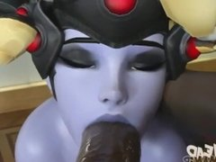 Widow maker give DOOMFist a deepthroat blowjob Edit by me