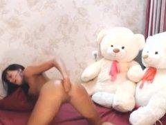 Romanian super slut camgirl amazing anal fist and cum begging show