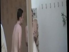 Naked girls caught in a sauna shower (6)