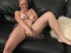 flash and glass dildo masturbation hot blonde with huge boobs masturbating