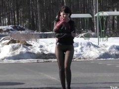 Jeny Smith test pantyhose
