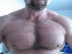 Muscle Bear Pec Worship