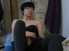 Asian Crossdresser Masturbate 2