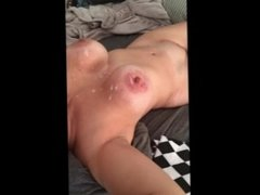 busty wife with cum on her big tits
