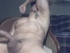 Super muscle hot boy jerk off and cum multiple handsfree AGAIN