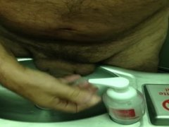 Washing my dick in the plane