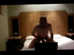 Hotel Room Masturbation