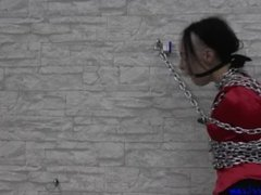 Girl chain bondage